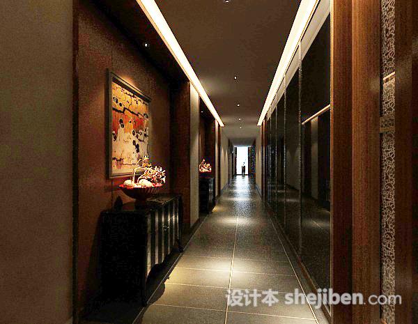 走廊过道3d模型