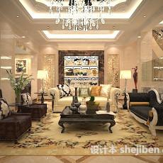 欧式客厅茶几3d模型下载