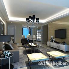 现代客厅电视柜3d模型下载
