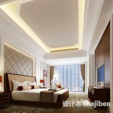 现代卧室吊顶3d模型下载