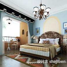 地中海风格女孩房卧室3d模型下载