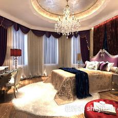 欧式卧室婚房3d模型下载