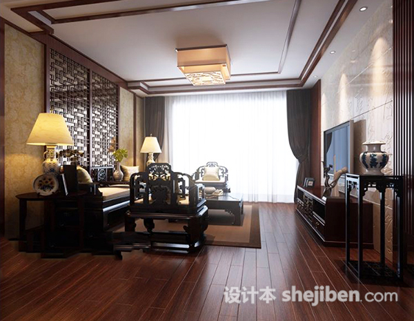 3d客厅吸顶灯模型