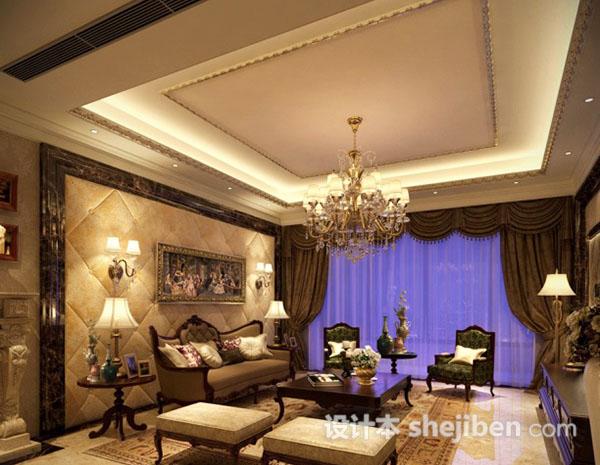 欧式客厅背景墙软包模型