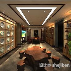 家装茶室3d模型下载