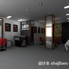 经典理发店3d模型下载