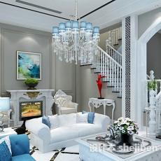 欧式客厅吊灯3d模型下载