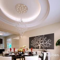 餐厅圆桌3d模型下载