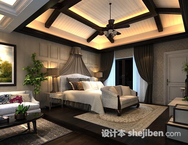 卧室风扇灯模型