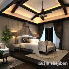 卧室风扇灯3d模型下载