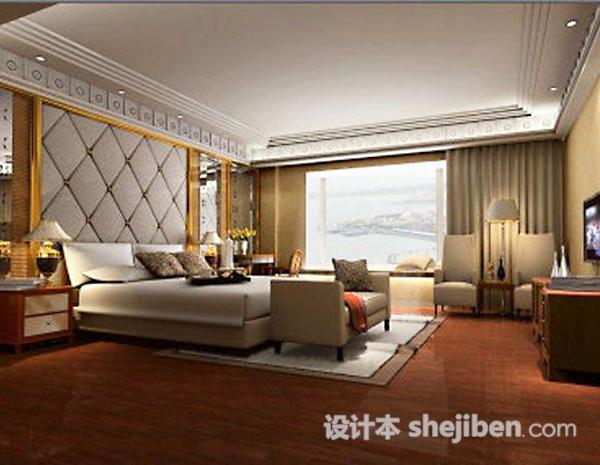 卧室3D模型下载95
