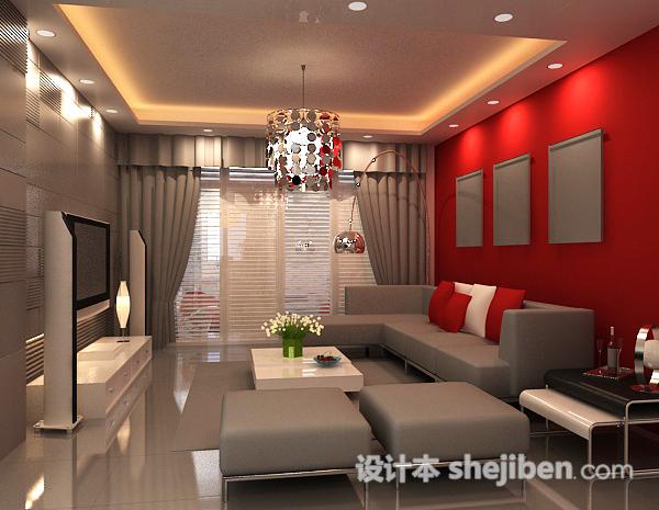 现代客厅3D模型下载29