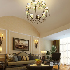 现代简约客厅吊灯3d模型下载