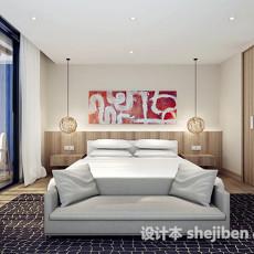 现代简约卧室3d模型下载