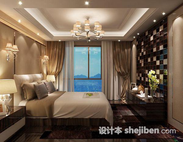 现代卧室吊灯模型