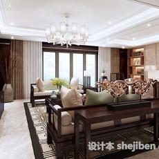 中式客厅隔断3d模型下载