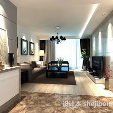 简约客厅电视柜3d模型下载