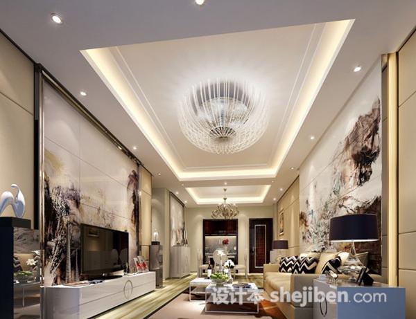 家装客厅整体3d模型