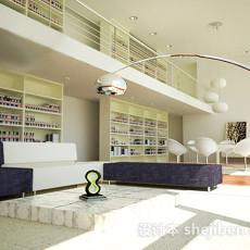 图书馆室内3d模型下载