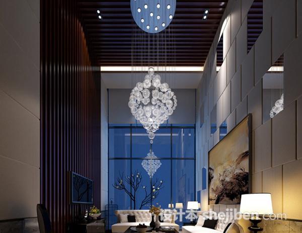 别墅客厅整体3d模型