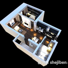 整体家装3d模型下载