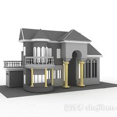 叠拼式别墅3d模型下载