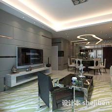 现代家装简约客厅3d模型下载