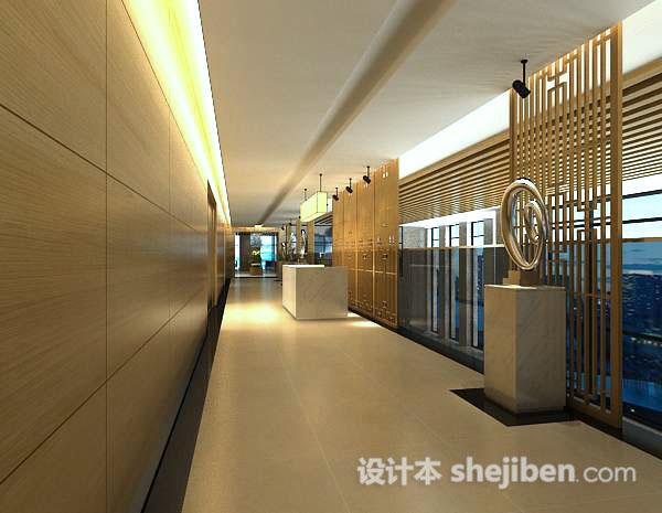 走廊吊灯3d模型
