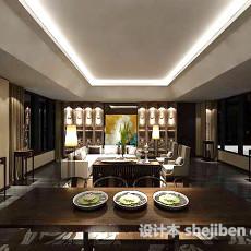 家装餐厅桌椅3d模型下载