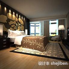 中式家居卧室3d模型下载