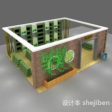 室内场景-展示厅5553d模型下载