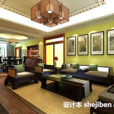 中式客厅挂画3d模型下载