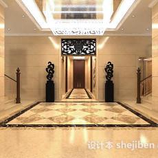 酒店电梯走廊3d模型下载