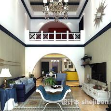 复式楼客厅3d模型下载