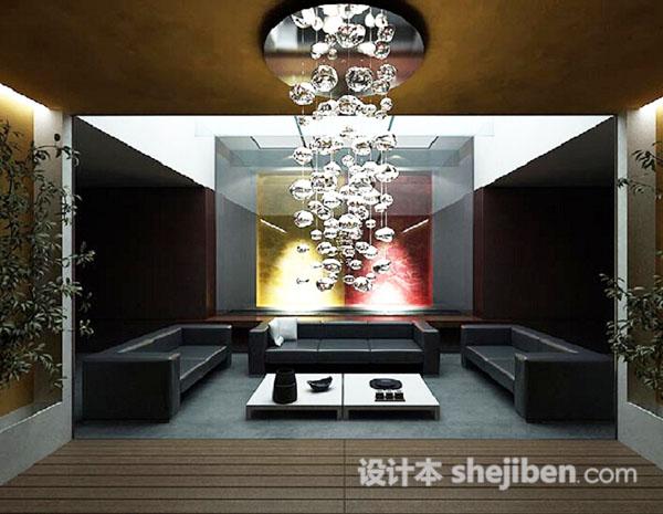 客厅3D模型模型下载