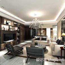 新中式客厅背景墙3d模型下载