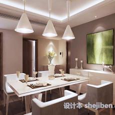 现代风格简易餐厅3d模型下载