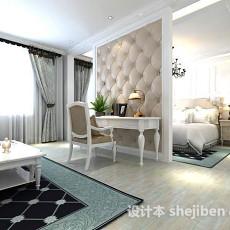 卧室隔断3d模型下载