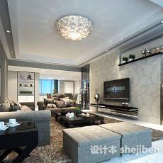 白色客厅3d模型下载