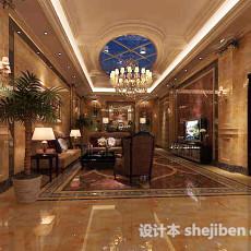 奢华客厅3d模型下载