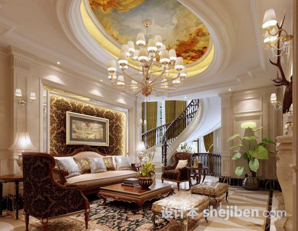 欧式3d客厅模型下载