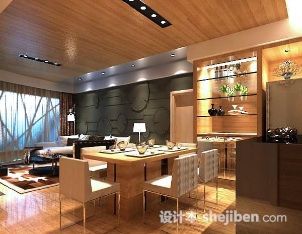 中式餐厅模型下载