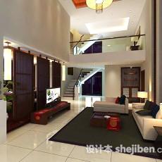 中式别墅客厅3d模型下载