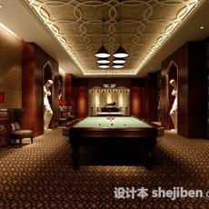 桌球娱乐室3d模型下载