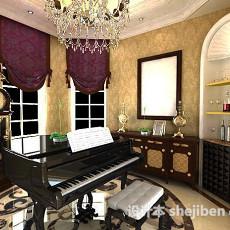 钢琴房3d模型下载