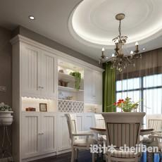 田园风格餐厅3d模型下载