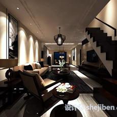 别墅客厅吊灯3d模型下载
