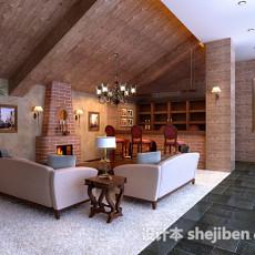 欧式客厅壁炉3d模型下载
