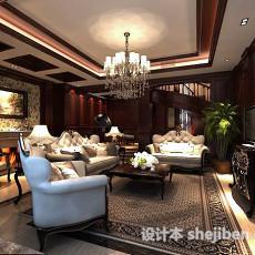 欧式客厅天花板3d模型下载