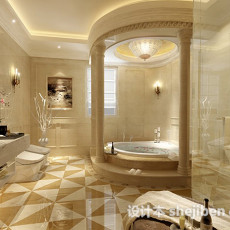 欧式浴室3d模型下载